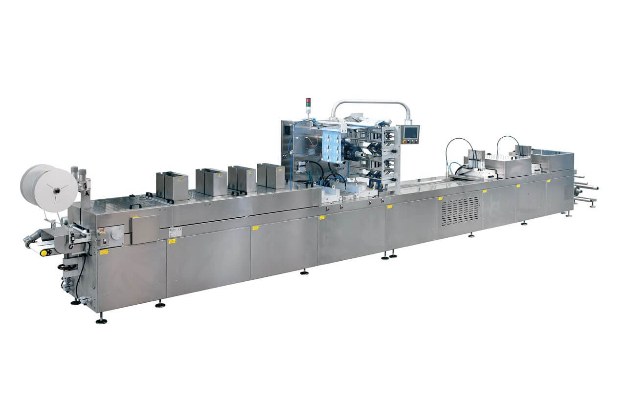 Thermoforming packing machines for food products